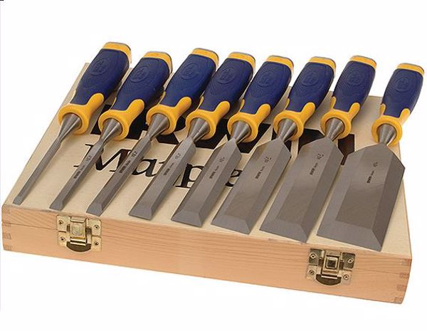Picture of Irwin Marples Bevel Edge Chisels - Set of 6 +2 Chisels FREE